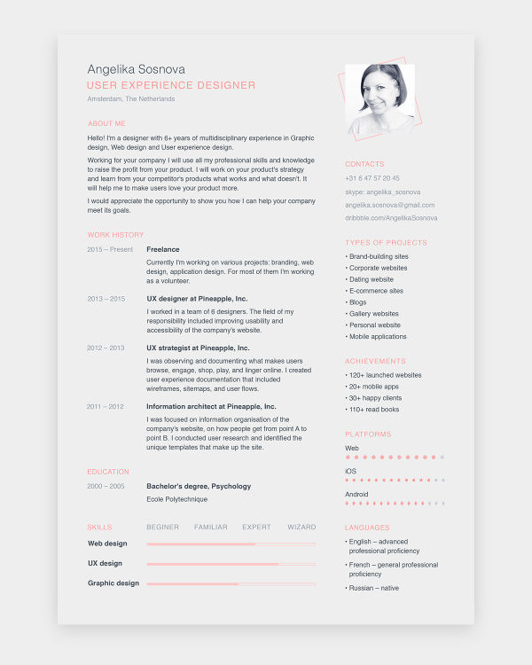 free resume templates keynote