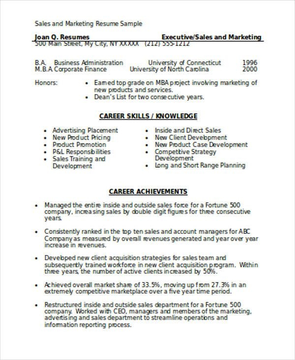 List 7 Different Resume Formats