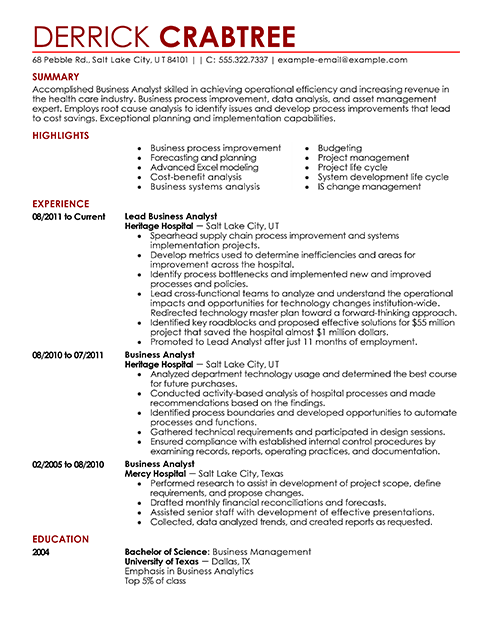 Resume Templates Live Career