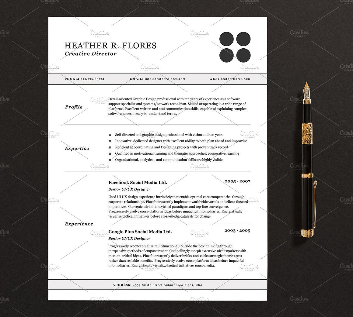 Resume Templates For Pages
