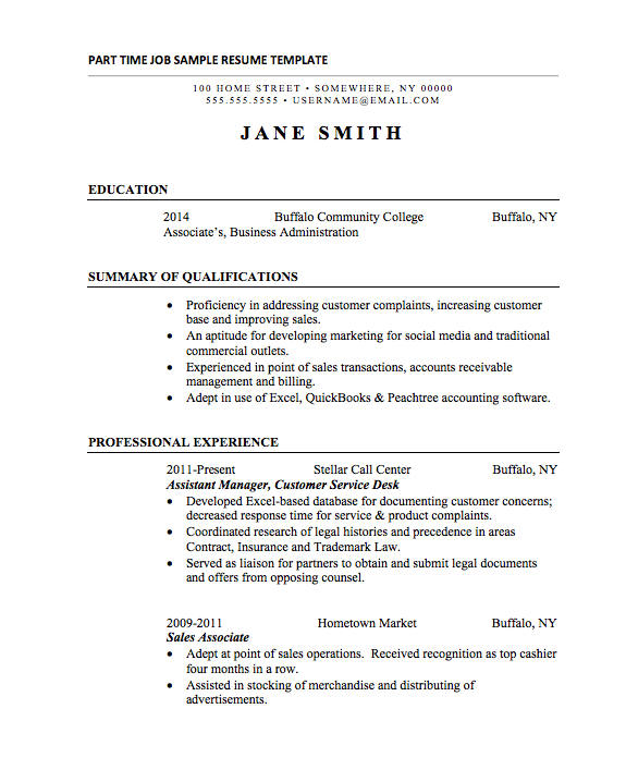 Resume Templates Internship