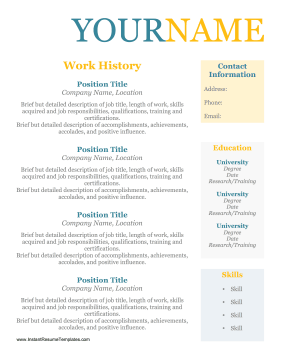 Resume Format Without Dates