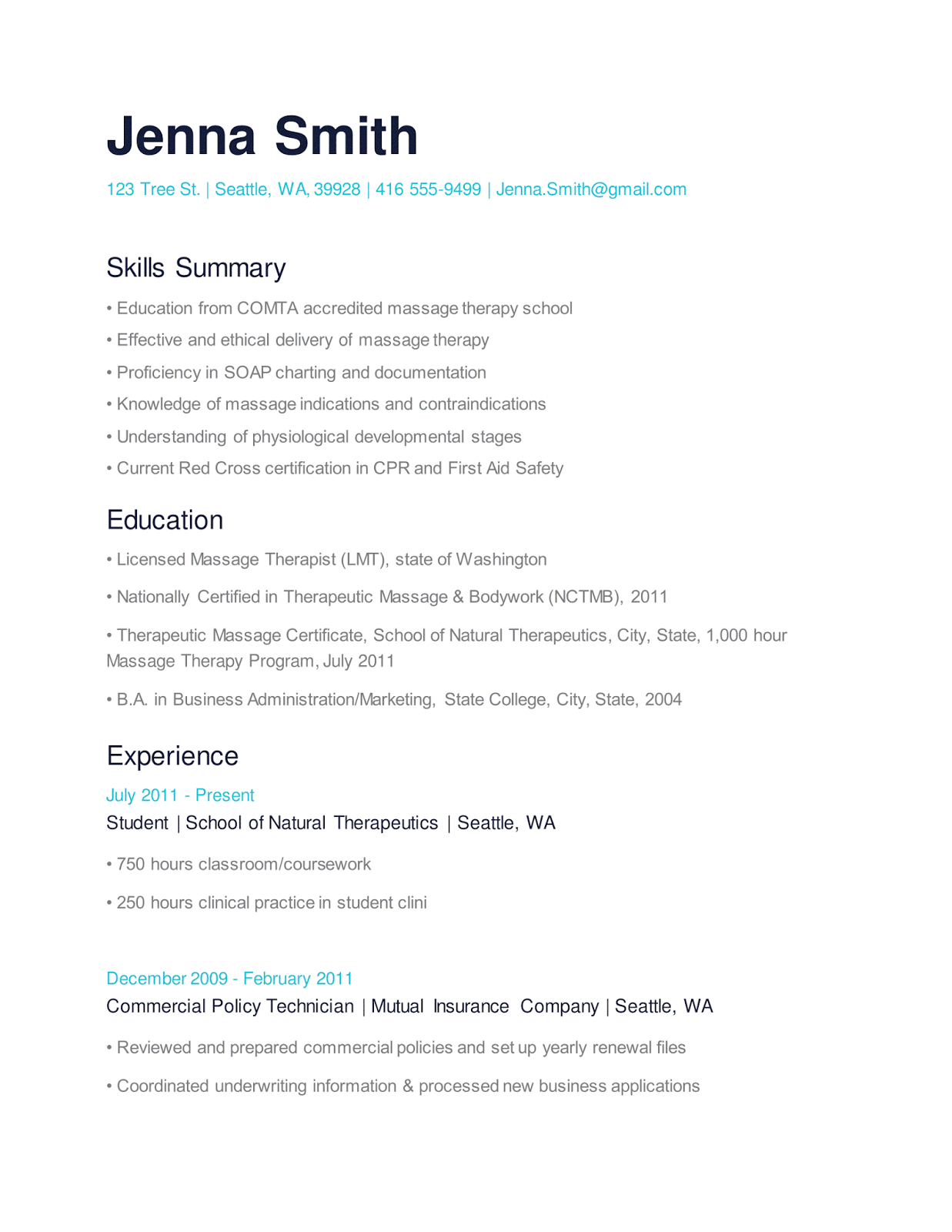 Resume Examples Youth