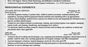 Resume Templates Dental Hygienist