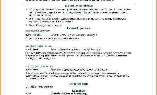 Resume Examples For 14 Year Olds
