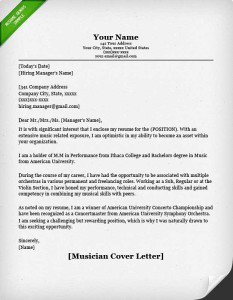 Resume Examples Cover Letter