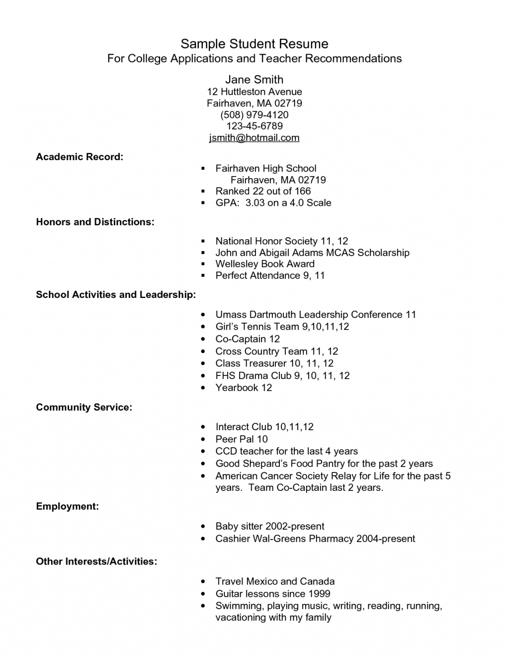 Resume Examples For Zumiez