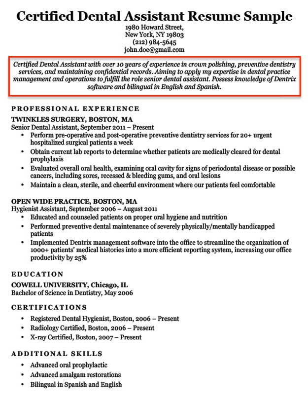 A Resume Objective Examples