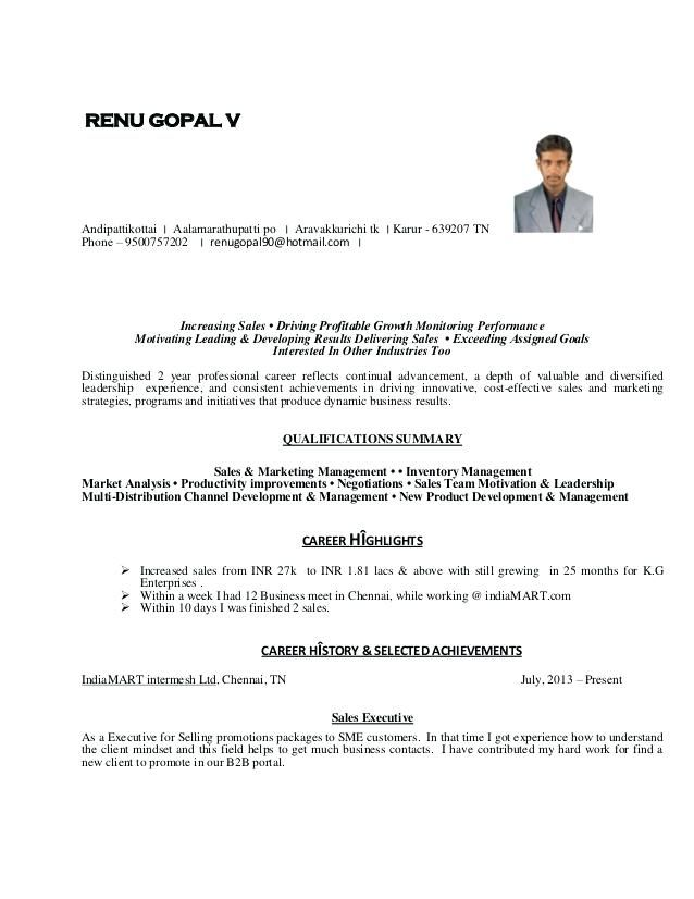 Resume Format For 8 Months Experience